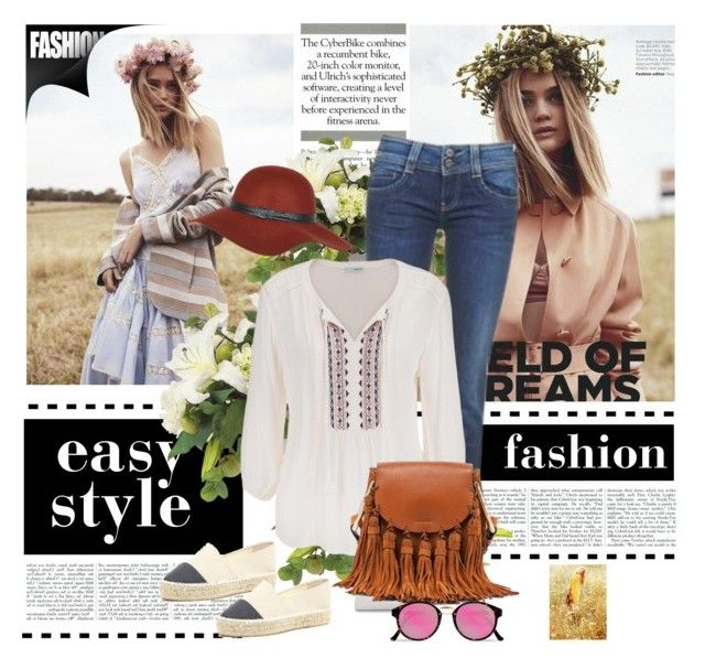 """""""Chloe fringe bag"""" by gabriela2105 on Polyvore featuring moda, River Island, Pepe Jeans London, ANNA, maurices, Chloé y RetroSuperFuture"""