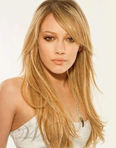 Straight Long Layered Haircuts With Side Swept Bangs Google Search