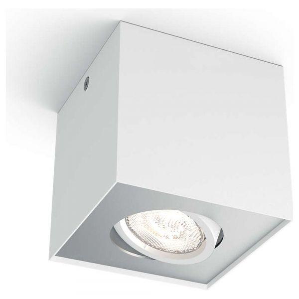 Philips myLiving LED Aufbaustrahler, warmGlow, eckig, weiß Lampen - badezimmerspiegel mit led