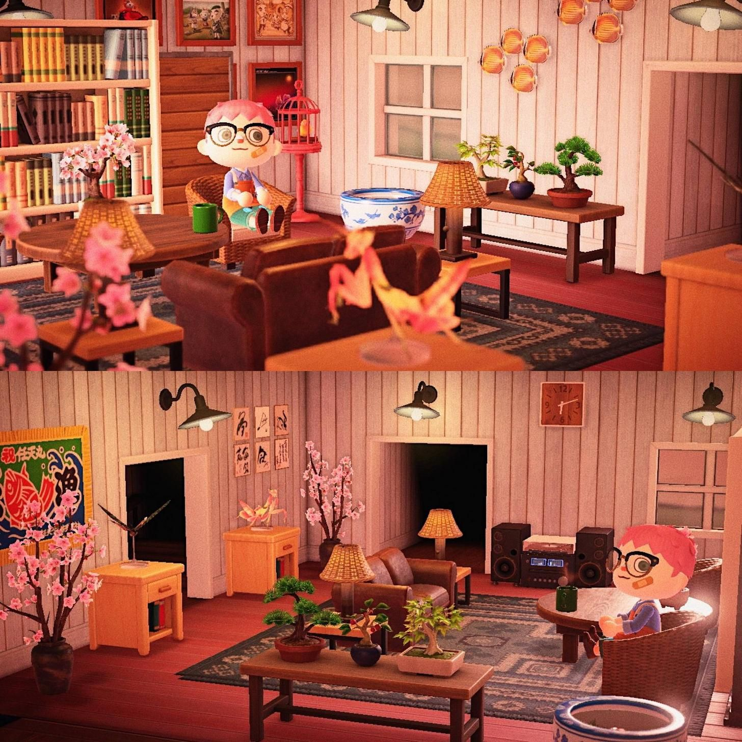 Y'all liked my workshop, no here's my living room :) in ... on Animal Crossing Living Room Ideas  id=48496