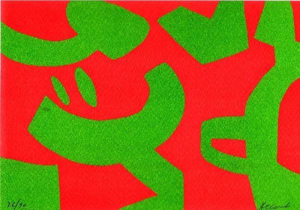 Carla ACCARDI Litografia a colori, 2006 Tecnica