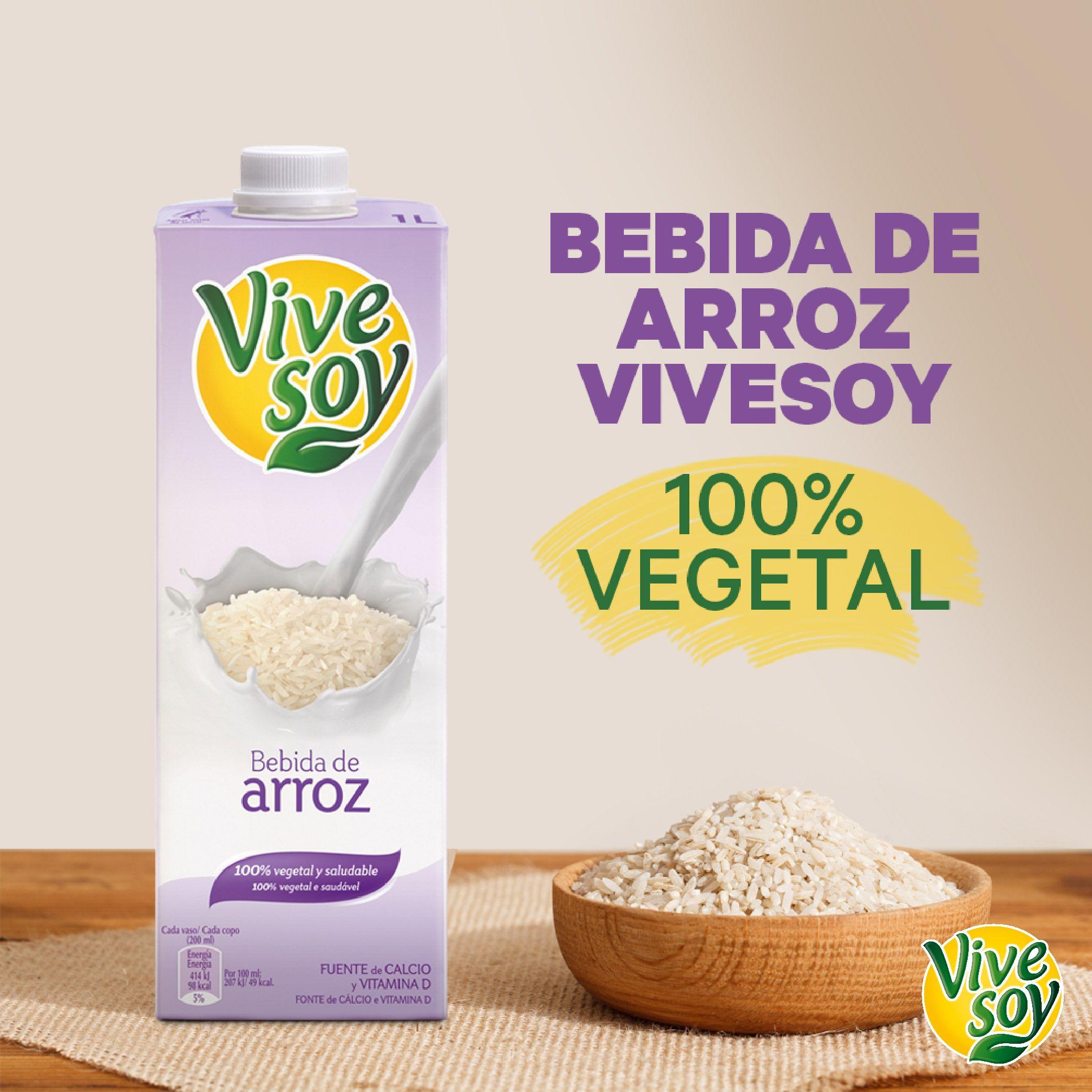 ¿Has probado ya nuestra bebida de arroz #Vivesoy? ¡Descubre todos sus #beneficios! #MeCuido #Bienestar #BebidaDeArrozVivesoy #BebidaDeArroz #BebidasVegetales #HábitosSaludables #Disfruta #Arroz