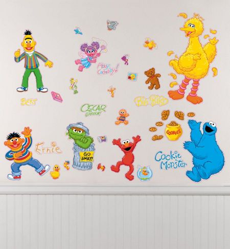 All wall decals sold in thie section of the Party City are licensed by Disney, Sesame Street, Hasbro, and other vendors specializing in toys and entertainment for kids. Description from partycity.com. I searched for this on bing.com/images
