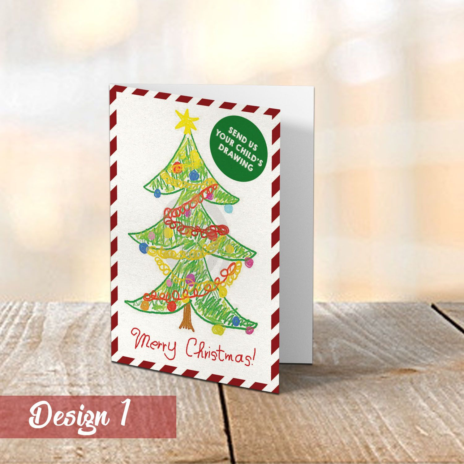 Your Kids Personalised Drawing Christmas Cards