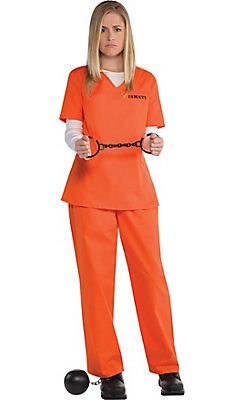 4b6e3a95ea1 Adult Orange Prisoner Costume