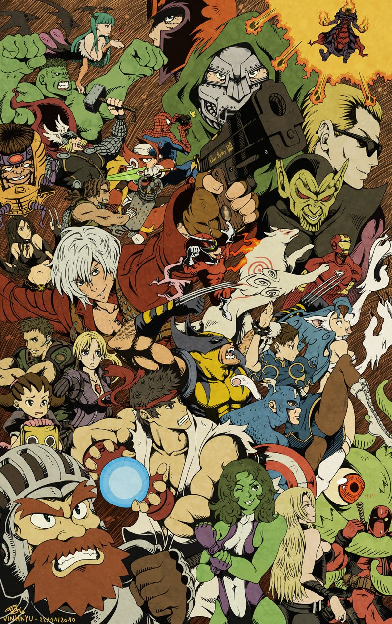Marvel Vs Capcom 505220 Marvel Vs Capcom Capcom Art Marvel Vs