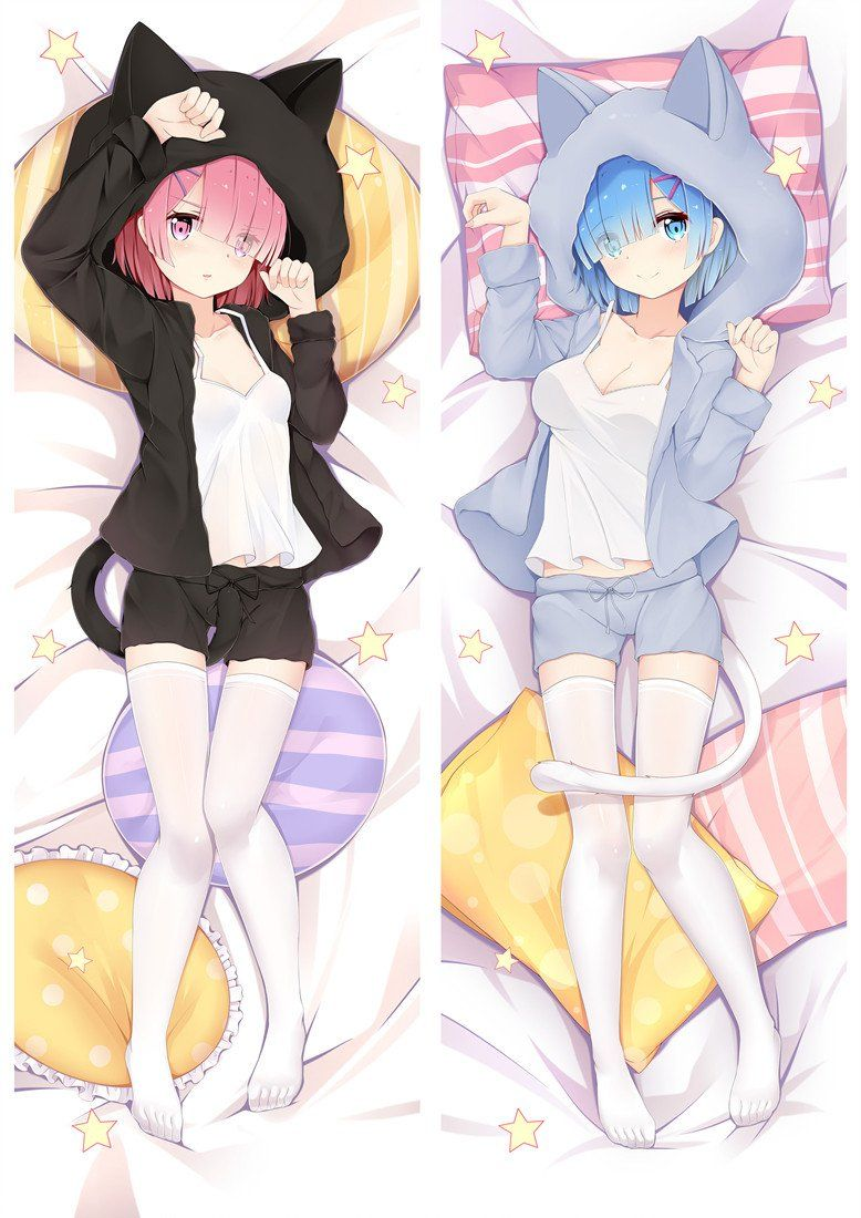 Ram Rem Custom Dakimakura Pillow Case Anime Dakimakura Pillow