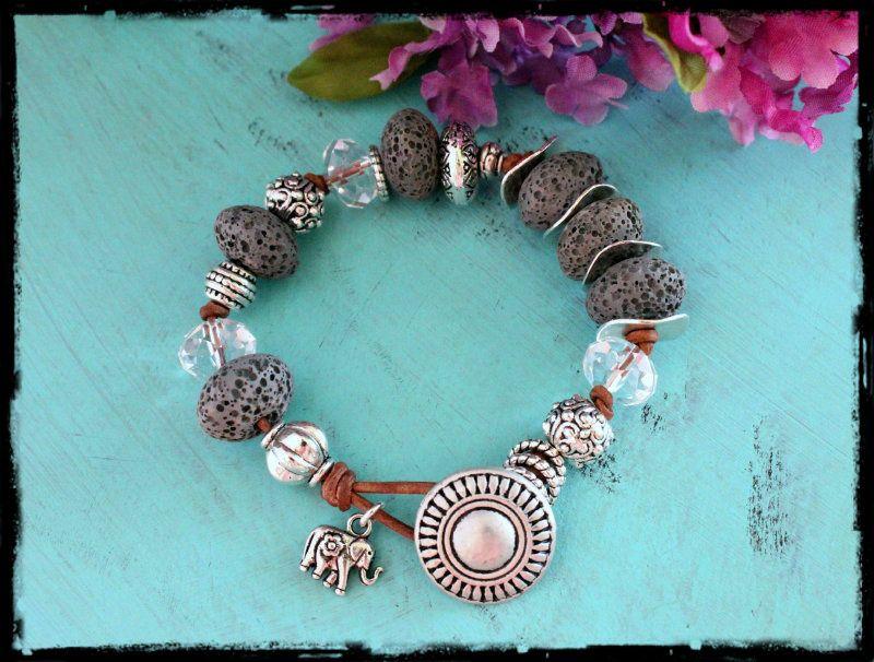 Lava Rock Gypsy Bracelet