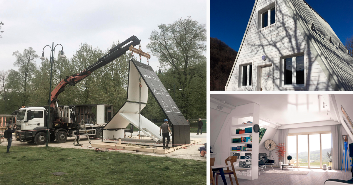 In A Time When Real Estate Prices Are Going Through The Roof Italian Renato Vidal Has Created A Brilliant Al A Frame House Kits Folding House Building A House