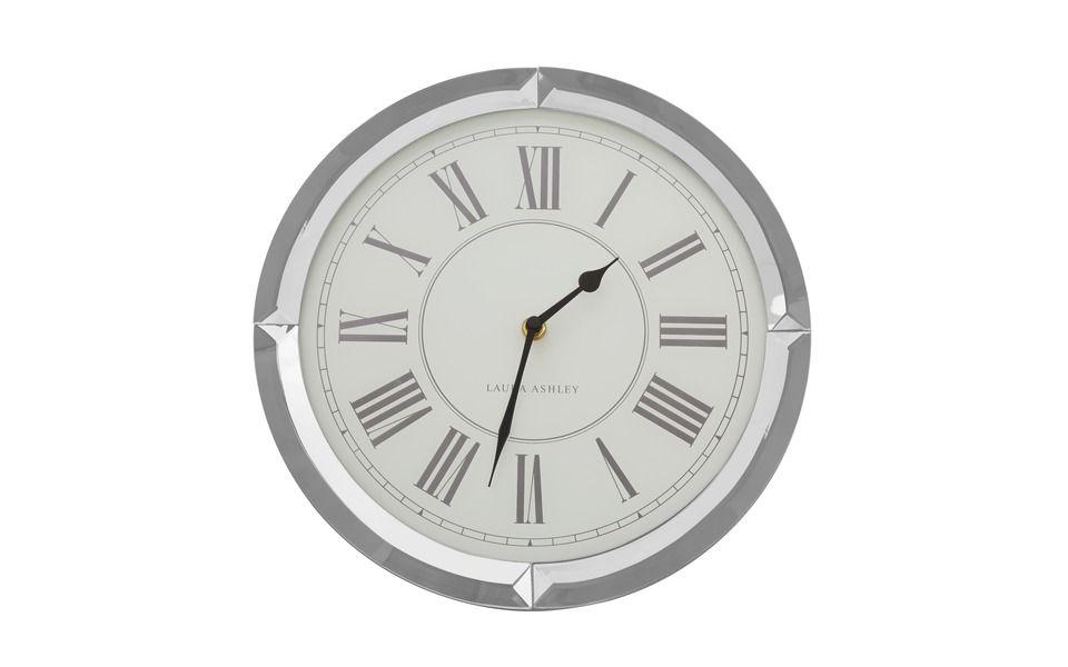 Mirrored Frame Wall Clock at Laura Ashley | House Wishlist | Pinterest
