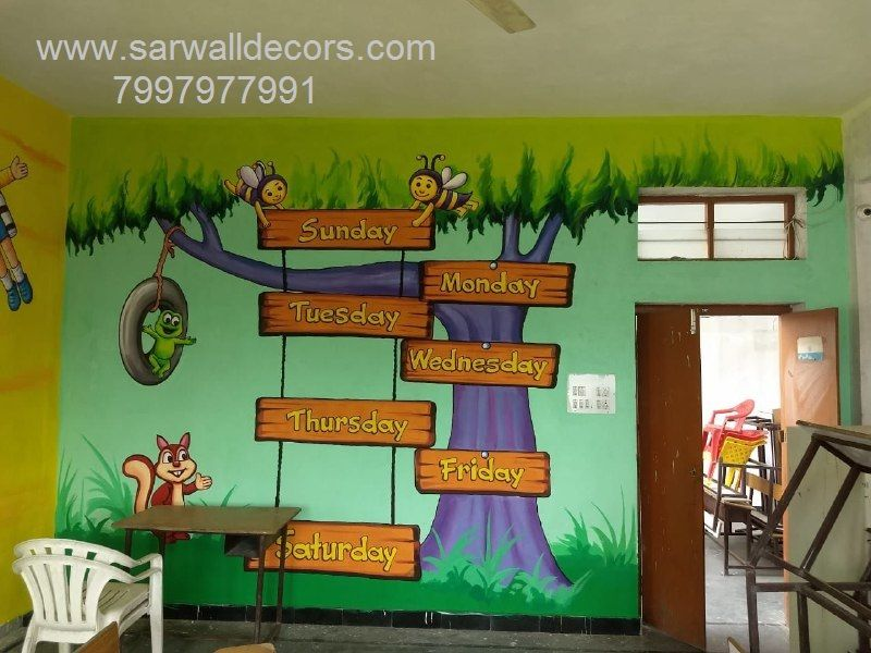 Play School Painting Works Rajkot School Painting Classroom