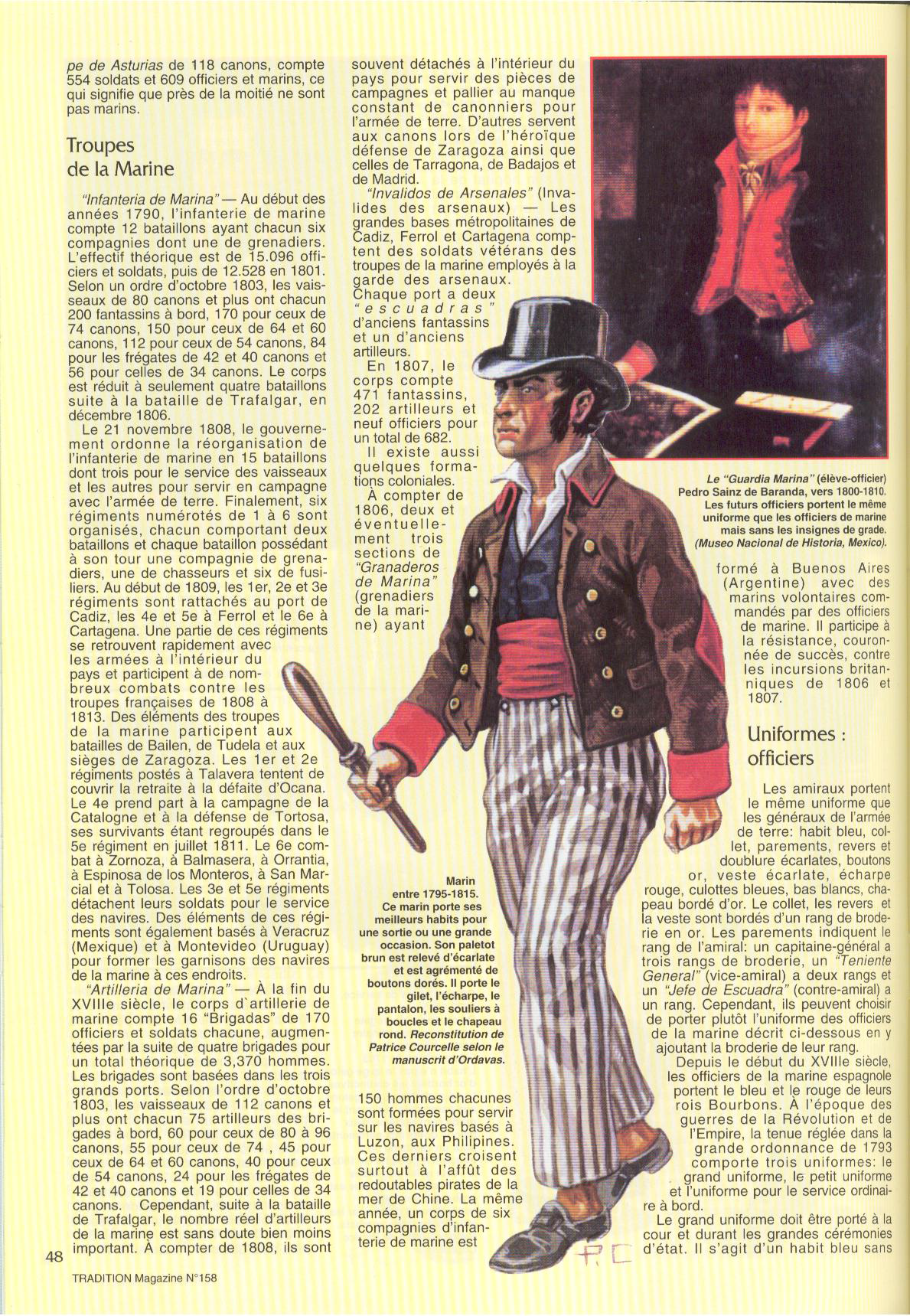 Tradition 158 Page 48 Navy Uniforms Napoleonic Wars Sailor