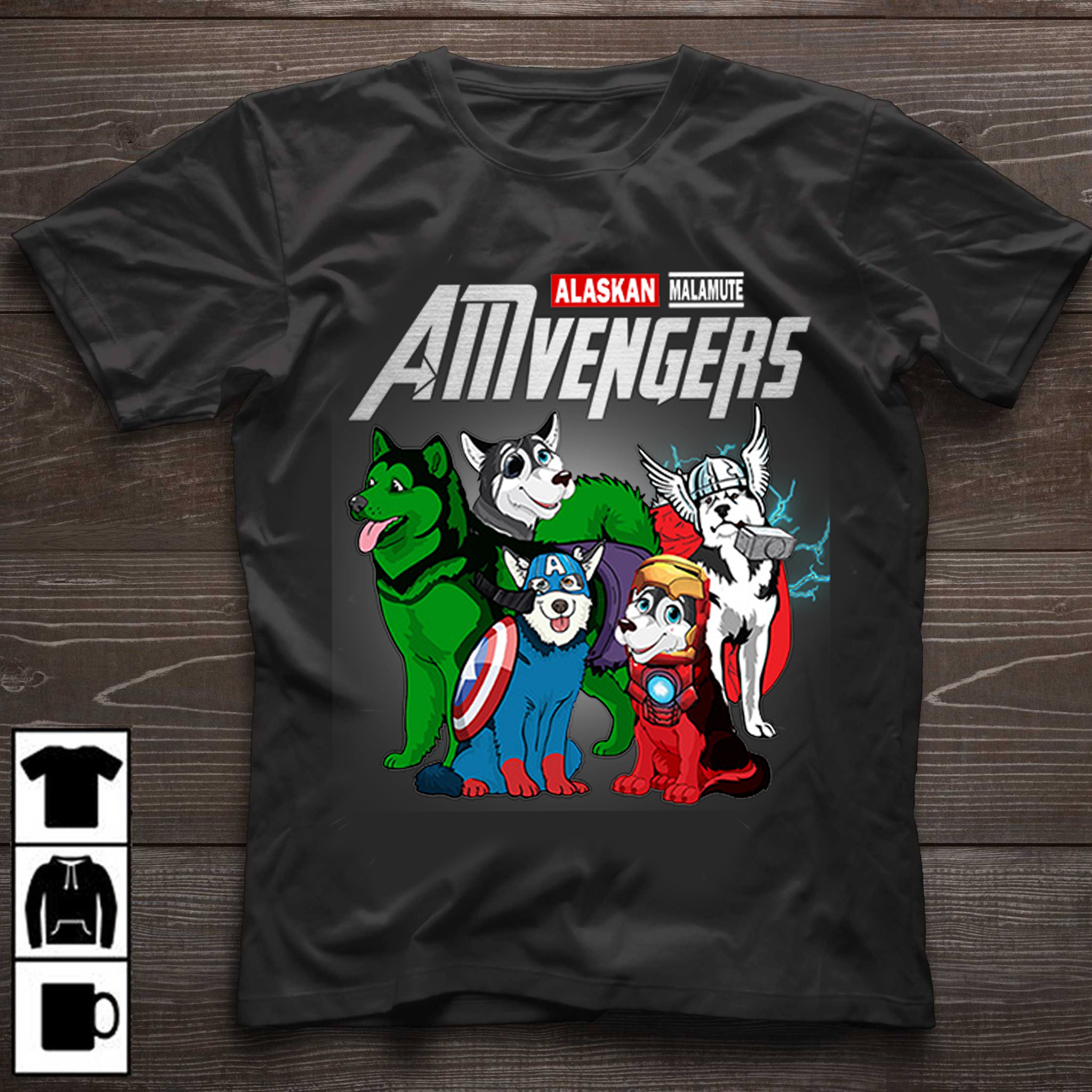 43ba1656d Buy American Avengers Icon T-Shirt online Do you love your Alaskan Dog? Then