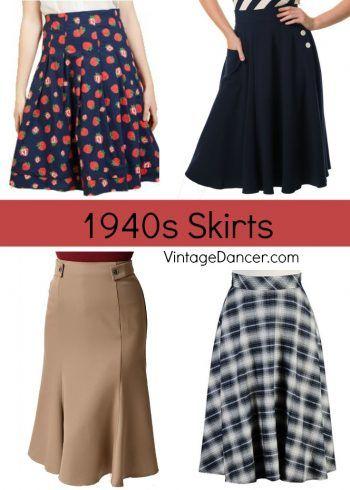 a803261edcfd Women's 1940s Style Skirts, Swing Dancing Skirts, A-line Skirts, Pencil  Skirts, Peasant Skirts