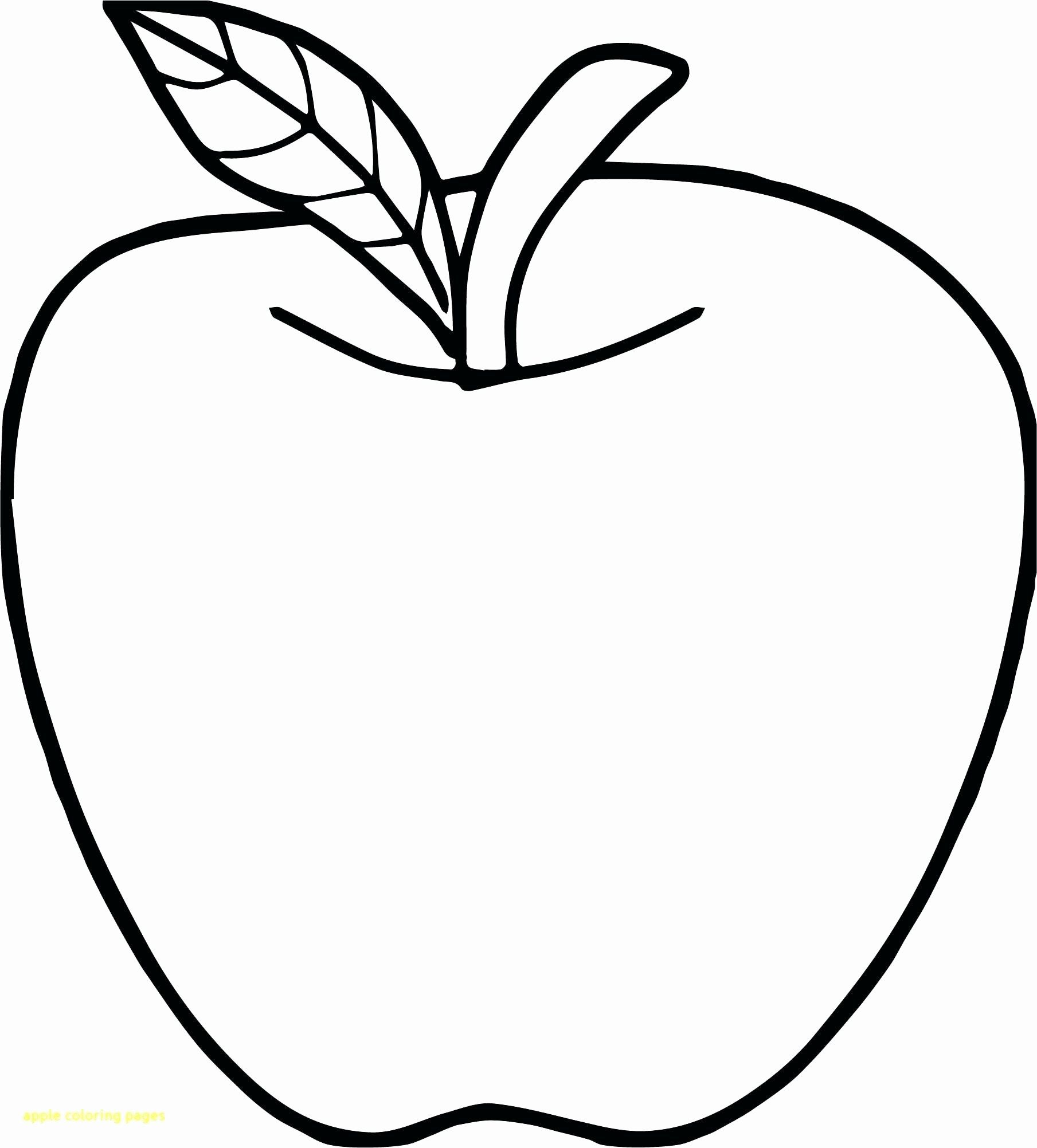 Apple Coloring Pages For Kindergarten In