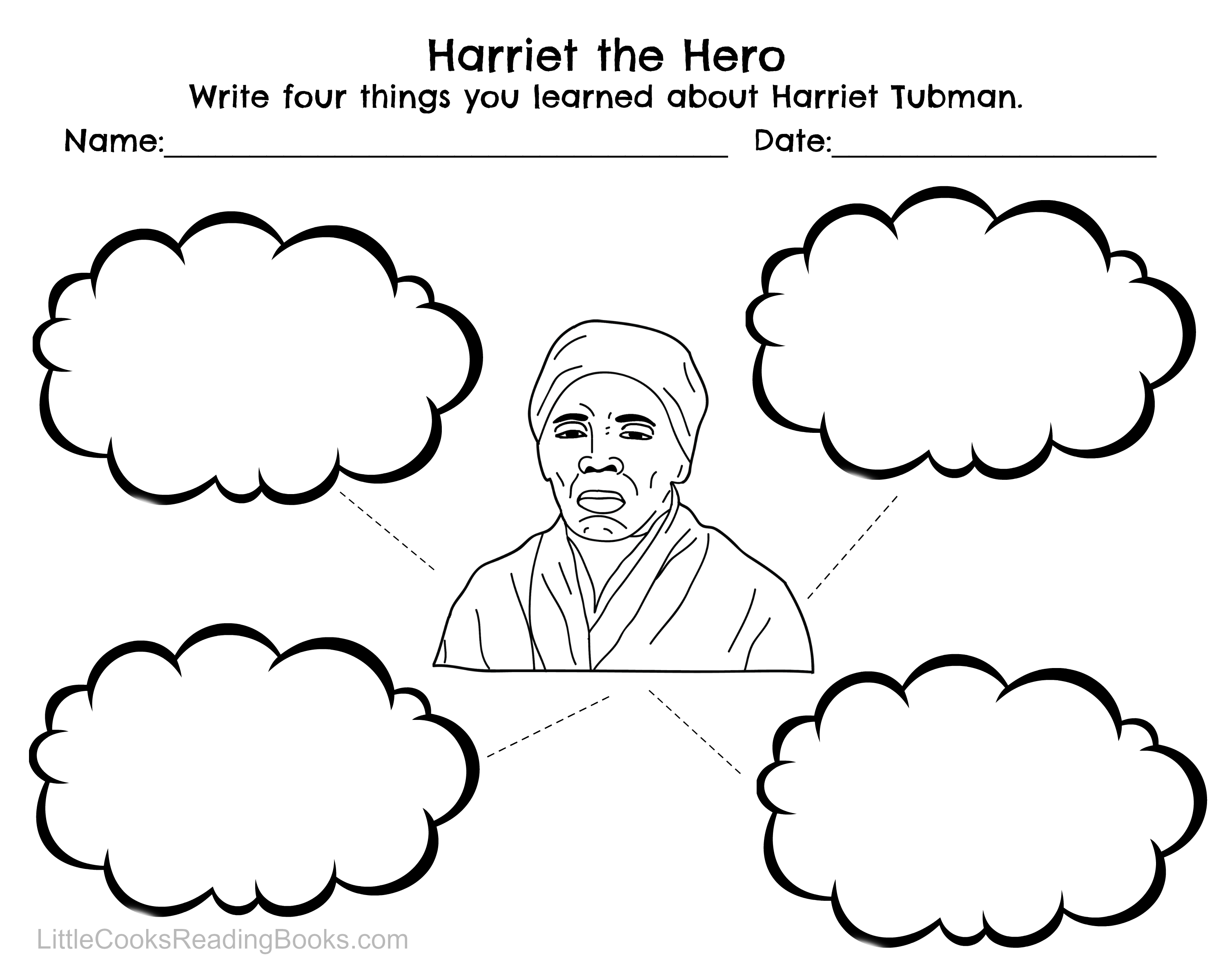 worksheet Harriet Tubman Worksheets harriet tubman and underground railroad free printables little cooks reading books