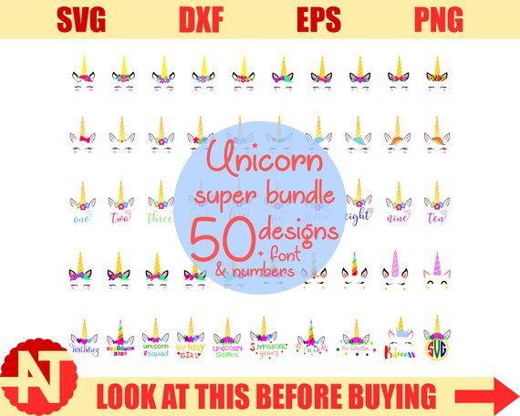 Unicorn svg Unicorn kit svg file for Cricut Unicorn horn svg