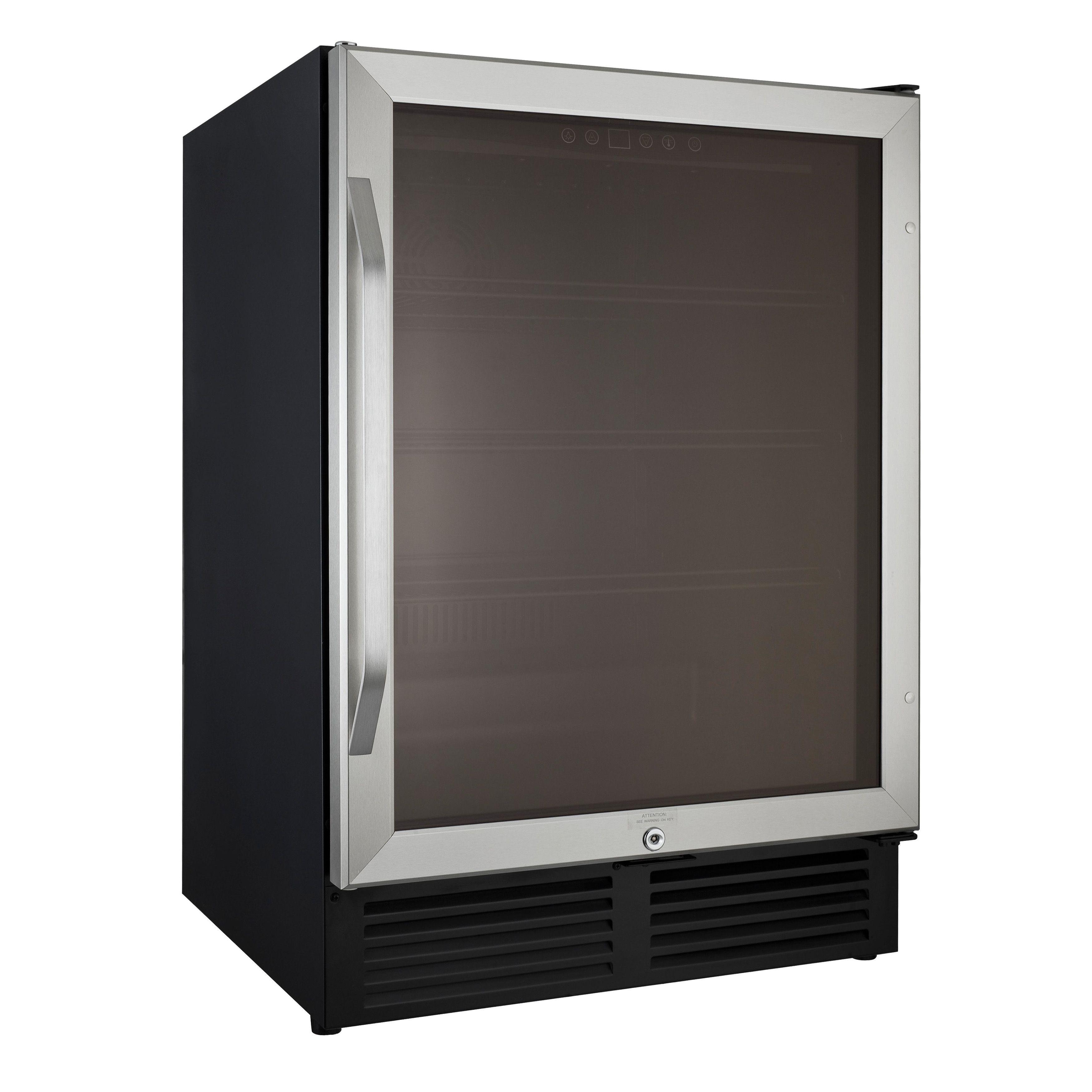 Avanti 5.0 Cubic Foot Glass Door Refrigerator, Silver Stainless Steel (Metal )