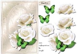 Elegant Pearls And White Roses