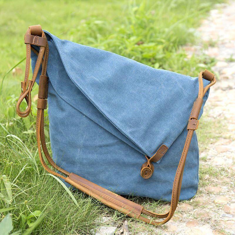 ef3ef41be92 Women Canvas Leather Bag - Buykud  WomensShoulderbags
