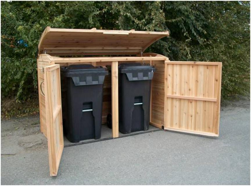 Free Woodworking Plans Garbage Storage Can Storage Shed Storage