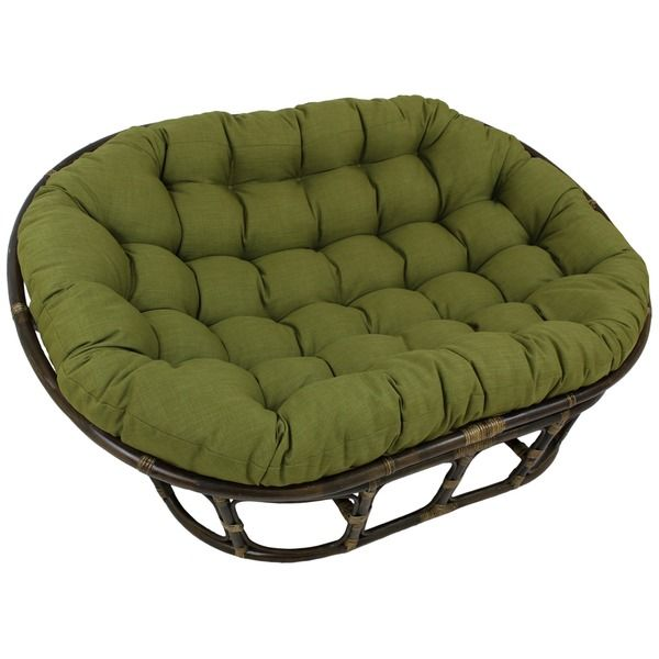 Delicieux Blazing Needles 48x65 Inch Indoor/ Outdoor Double Papasan Cushion    Overstock™ Shopping   Big Discounts On Blazing Needles Outdoor Cushions U0026  Pillows
