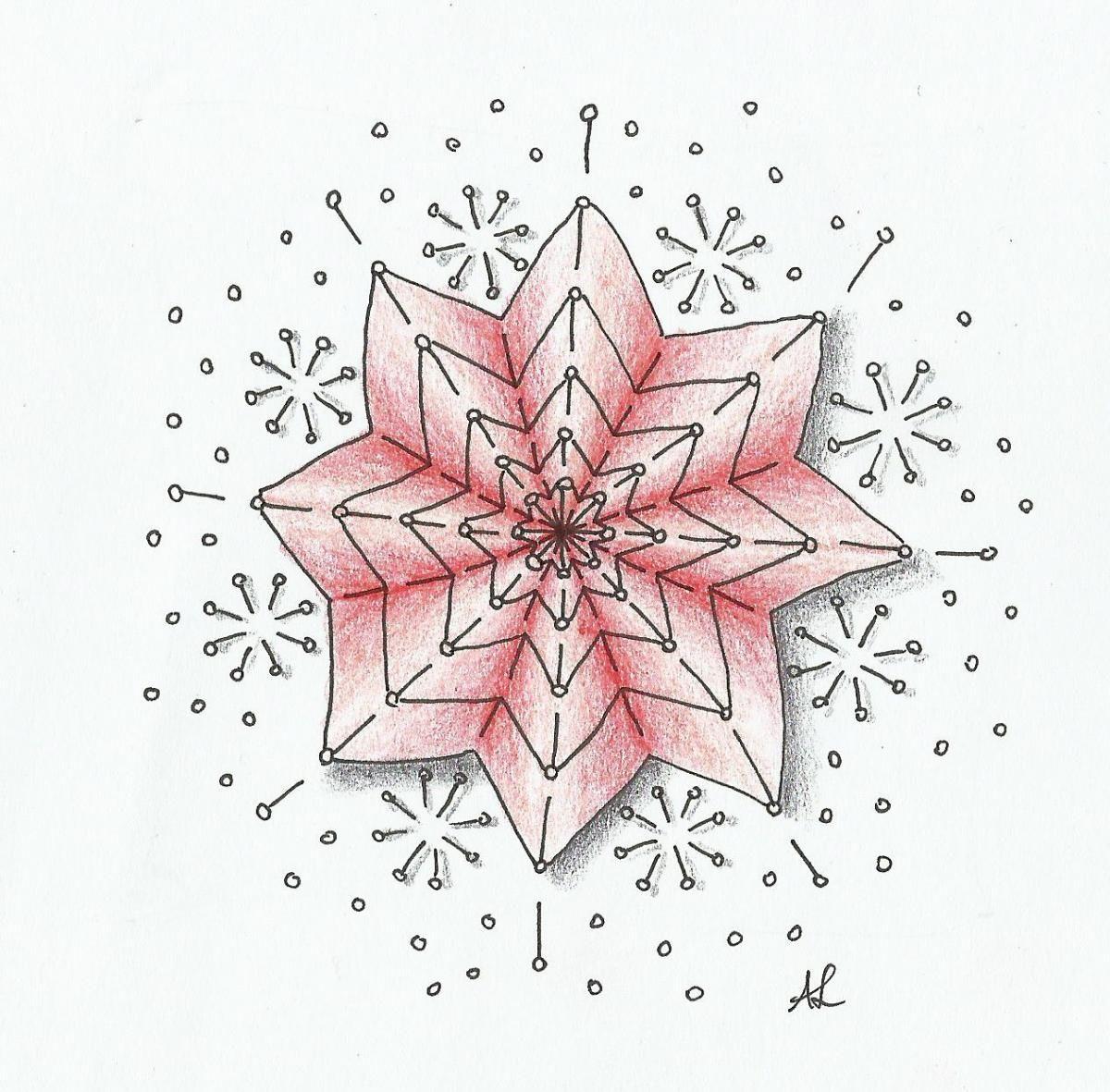 Muster Mixer #14 | Freude mit Zentangle | 01. Weihnachtsverzierung ...