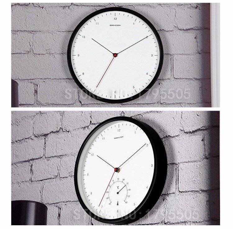 New Creative Metal Designer Wall Clocks Simple Scale Nordic Minimalist Style Thermometer Hygrometer Multi Function Wall Clock Clock Wall Clock Design Wall Clock Brands