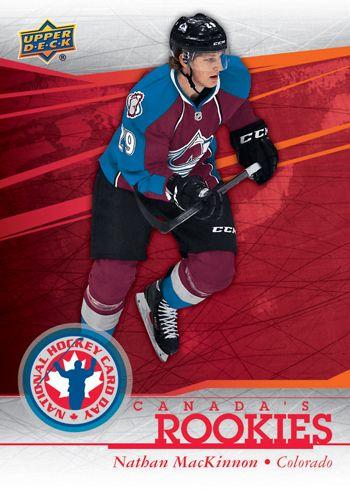 Nathan Mackinnon Rookie Card Upper Deck National Hockey Card
