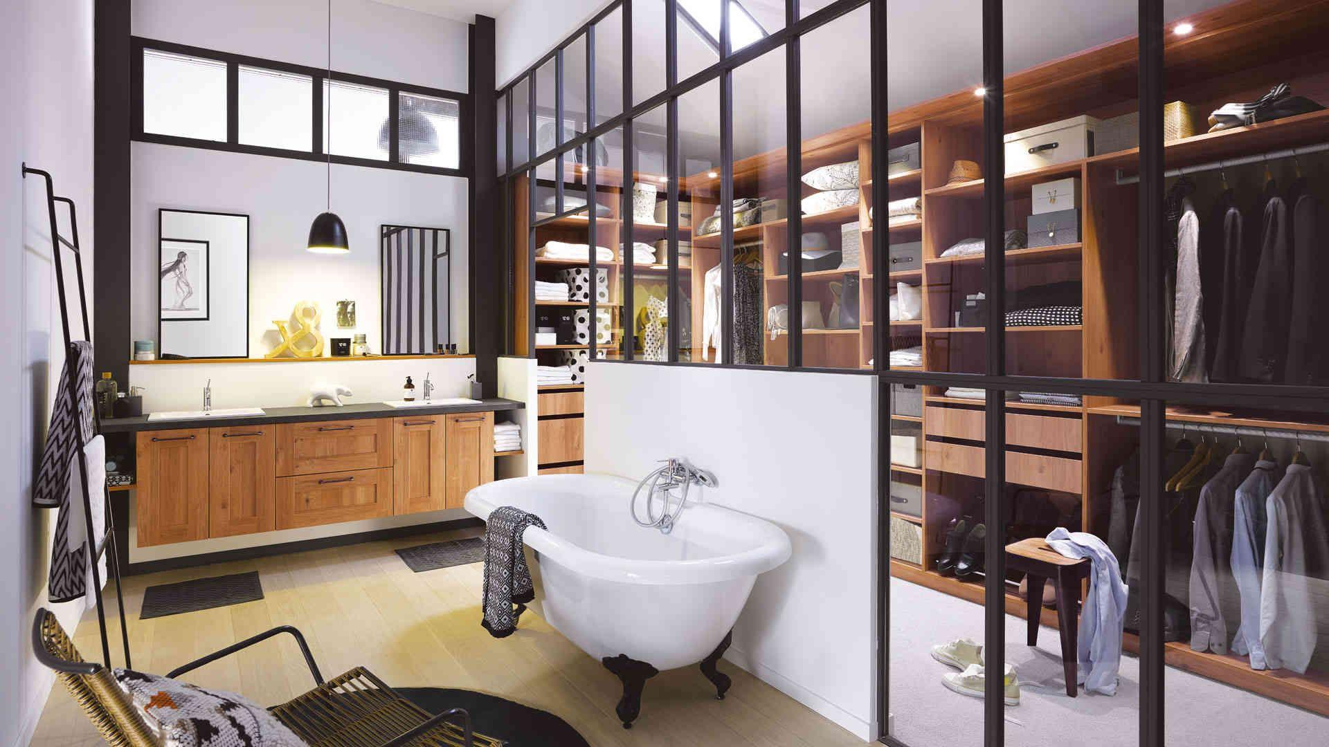 """Résultat de recherche d images pour """"salle de bain avec verrier"""