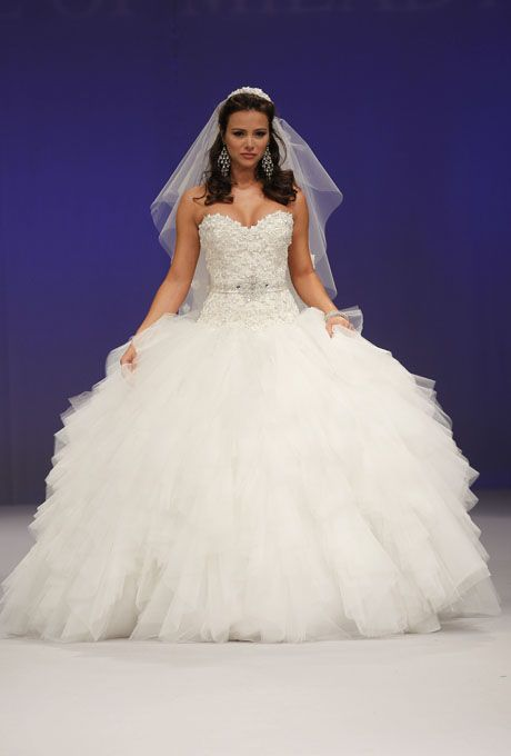 Brides: Eve of Milady - Fall 2012. Strapless tulle ball gown wedding ...