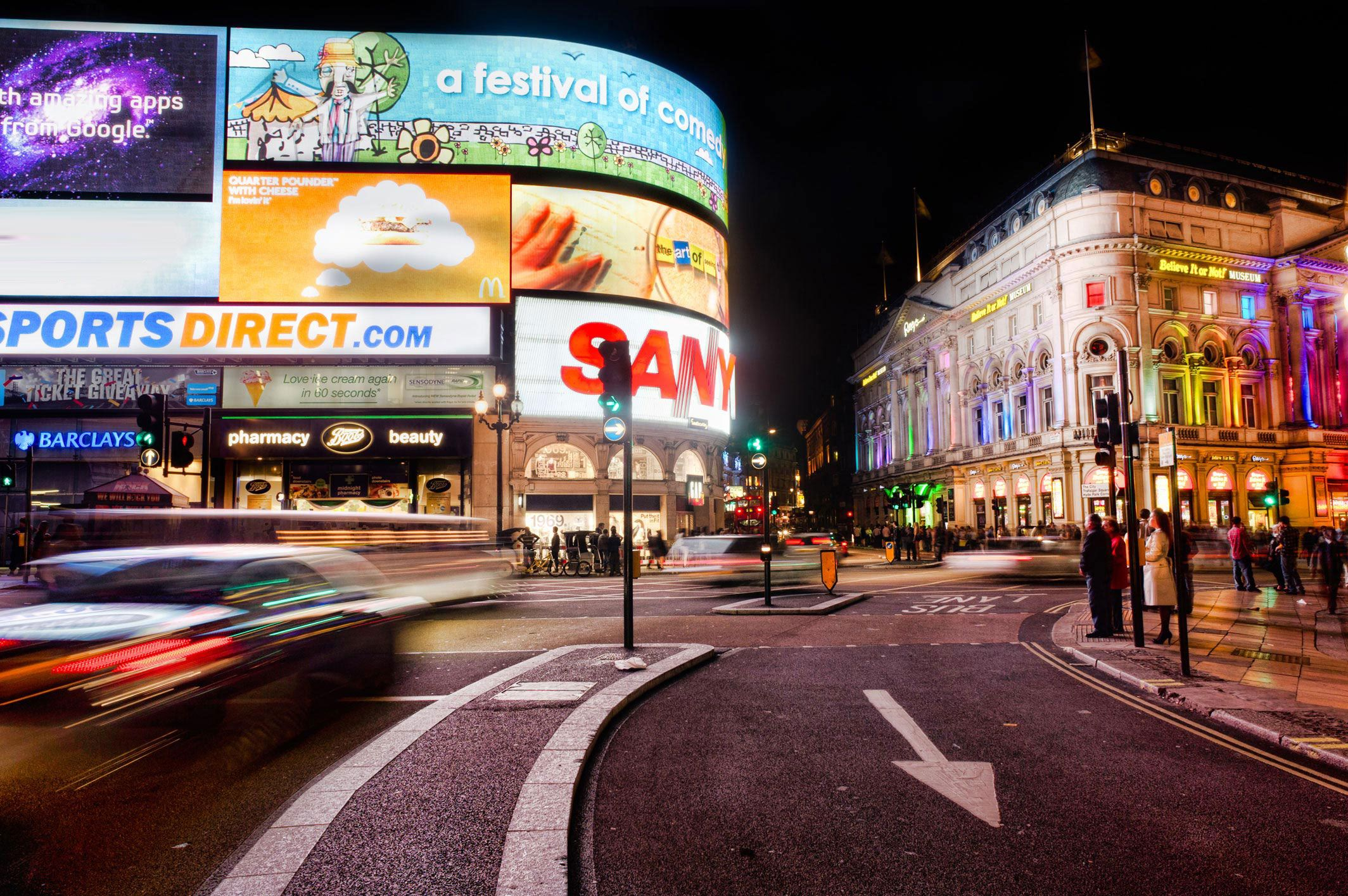 Piccadilly Circus -  Ranked #240 of 1,098 attractions in London 4.0 of 5 stars 1,125 Reviews