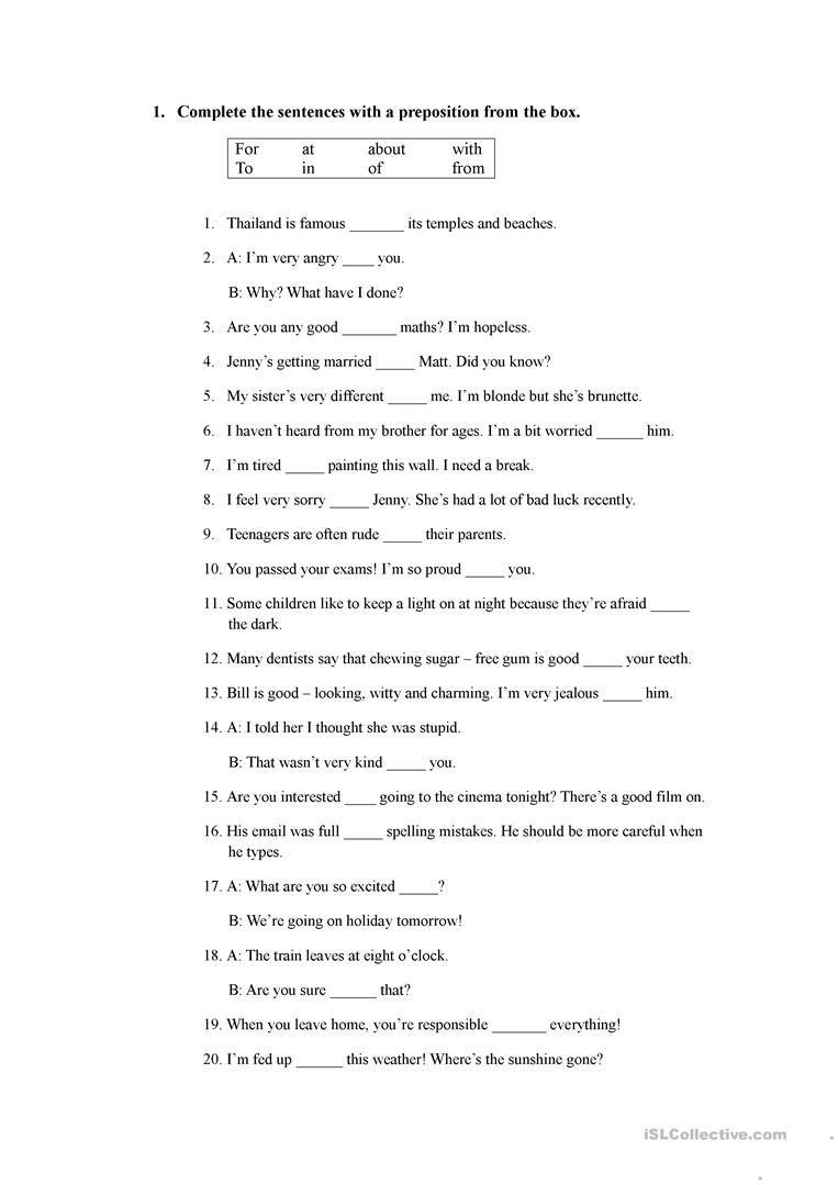 mixed tenses + preopisitons   Free grammar worksheet [ 1079 x 763 Pixel ]