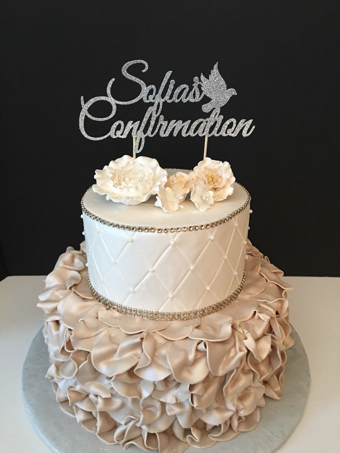 Personalized Confirmation Cake Topper Confirmation Cake Topper