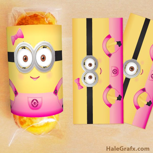 FREE Printable Despicable Me Girl Minion Twinkies Wrappers