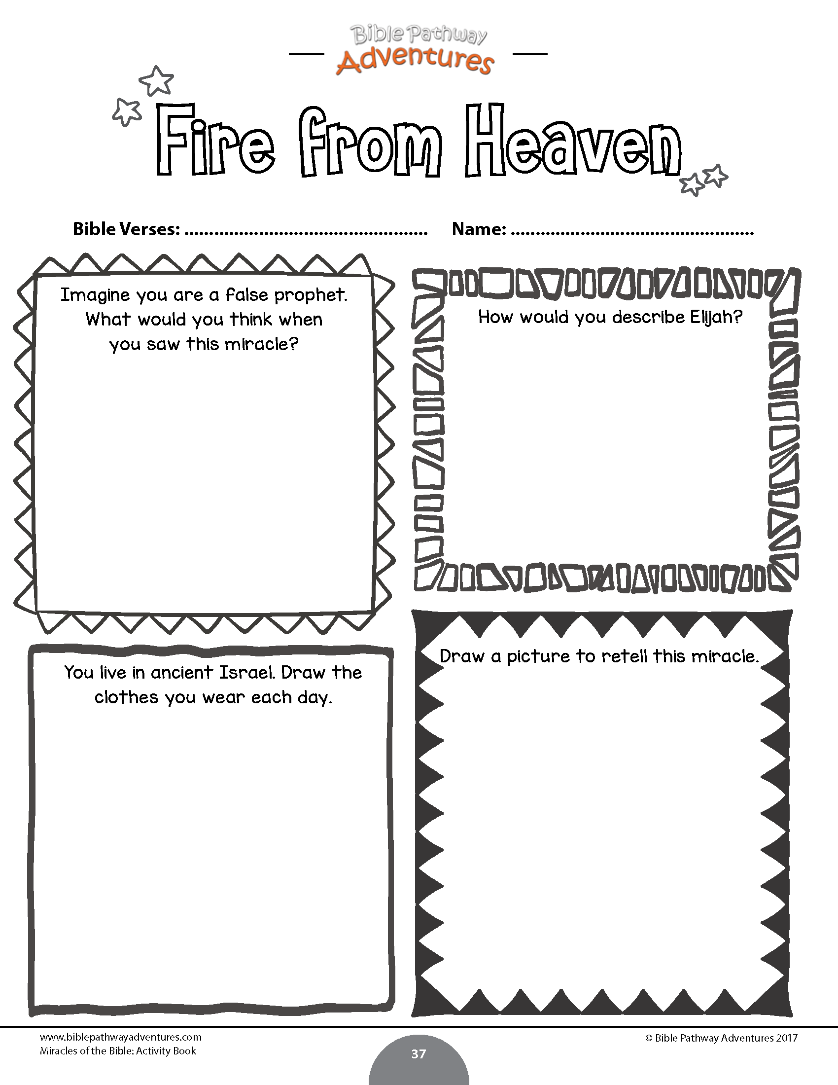 20 Miracles Of The Bible Activity Book