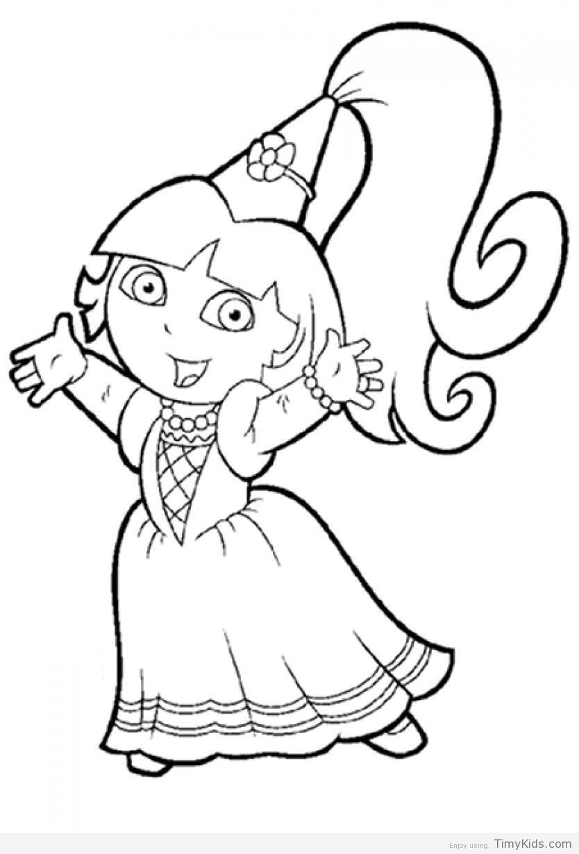 Timykids Dora Explorer Coloring Pages