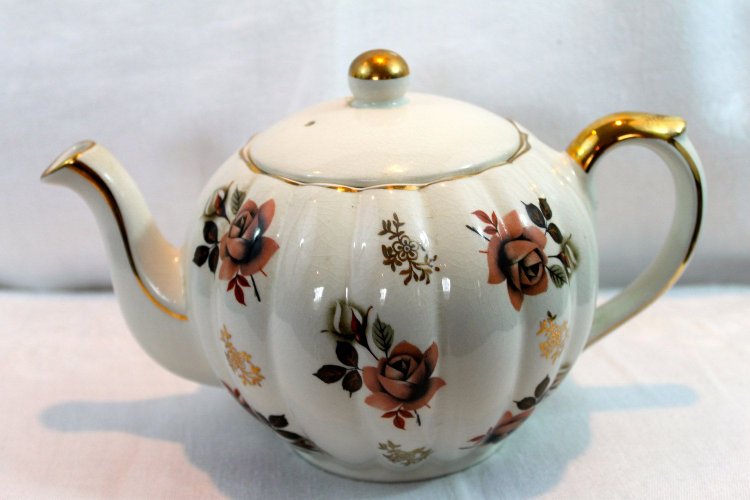 Beautiful Teapot Vintage Beautiful Gibsons Of Staffordshire England Rose