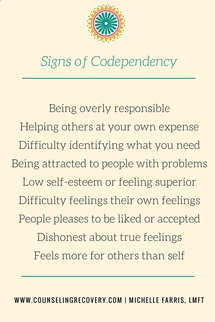 there is no single definition of codependency. it looks a little