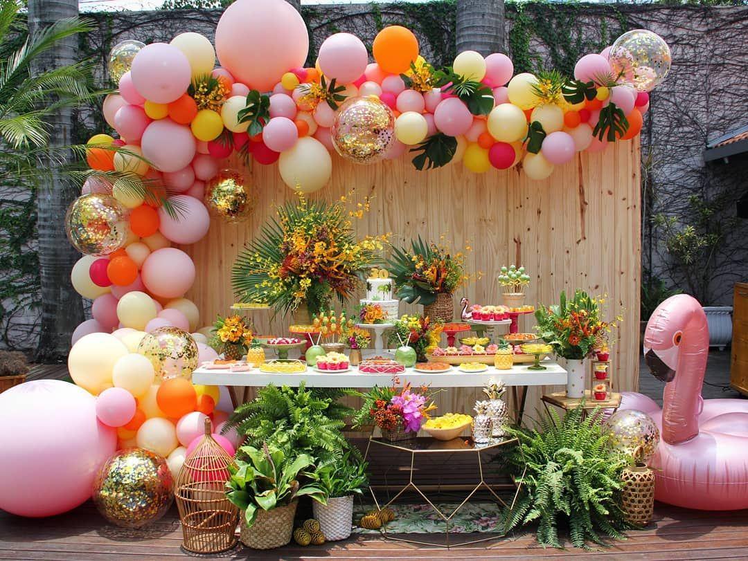 A Imagem Pode Conter Flor Com Imagens Festa De Aniversario