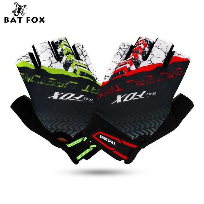 BATFOX Sport Mannen Vrouwen Half Vinger Korte Fiets Handschoenen Mountainbike Apparatuur Bicicleta Para Ciclismo Sport Fietshandschoenen