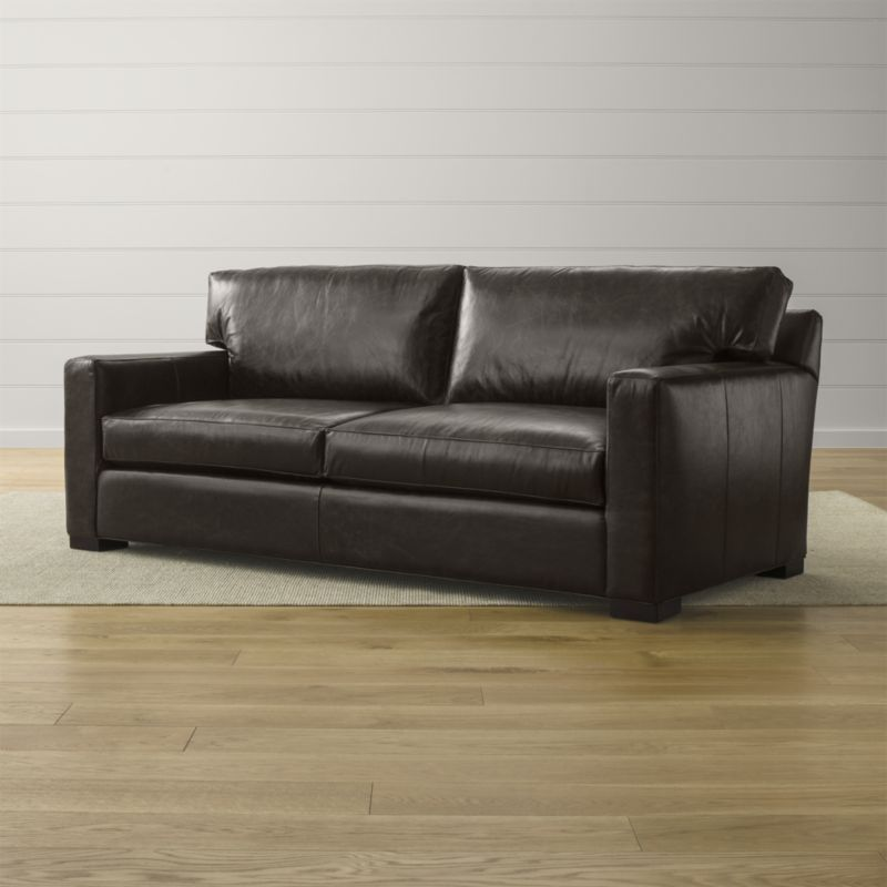 Axis Ii Leather 2 Seat Queen Sleeper Sofa