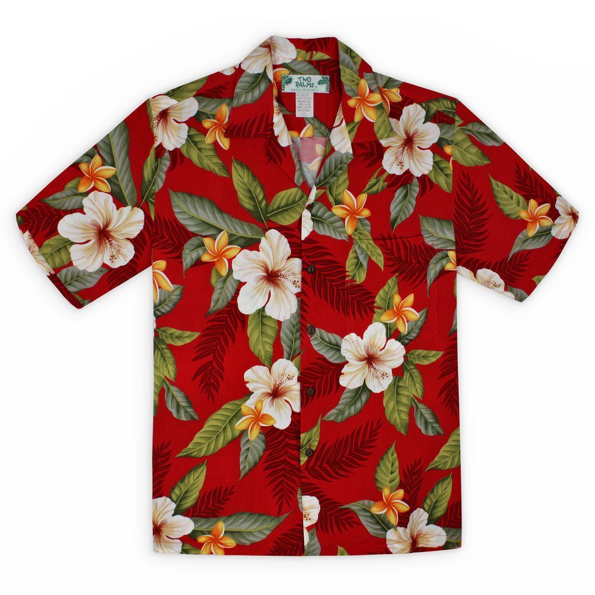 Button Down Shirt Red Hawaiian Shirt,Boho Hippie