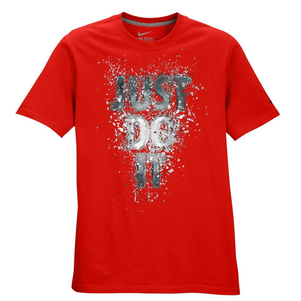 Nike Graphic T-Shirt - Men's - Casual - Clothing - Red/Multi