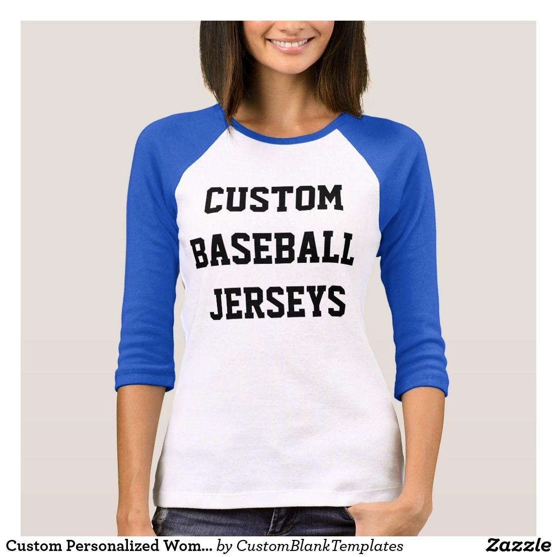 Design your own t shirt zazzle - Custom Personalized Womens Raglan Baseball Jersey