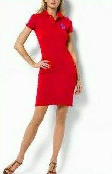 Rouge Ralph Lauren Polo Coton Robe En Lauren2662 Y7bfgyv6