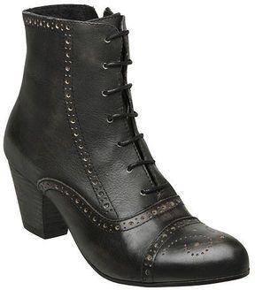 80c77be2ff740 BERTIE Brogue Mid Heel Lace Up Boot on shopstyle.co.uk