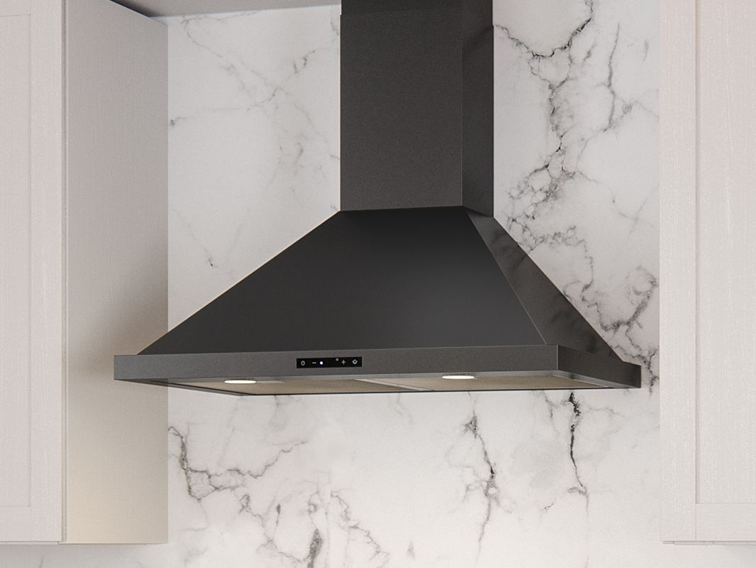 Zephyr Ombra Wall Mount Range Hood Is The Perfect Combination Of Form And Function With Its Sleek Black Stainless Steel Black Stainless Steel Range Hood Zephyr