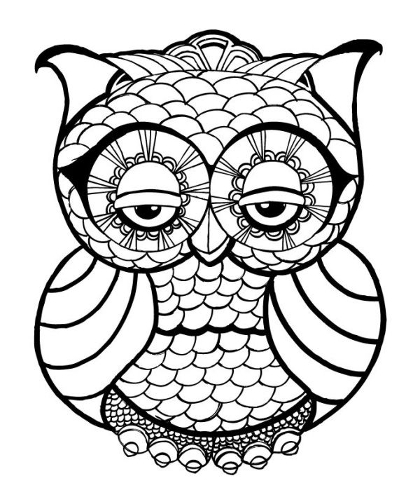 10 Difficult Owl Coloring Page For Adults http://procoloring.com/10 ...