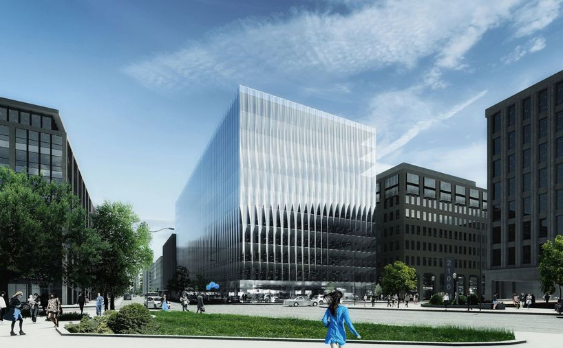 REX unveils office complex for washington DC with fluted glass